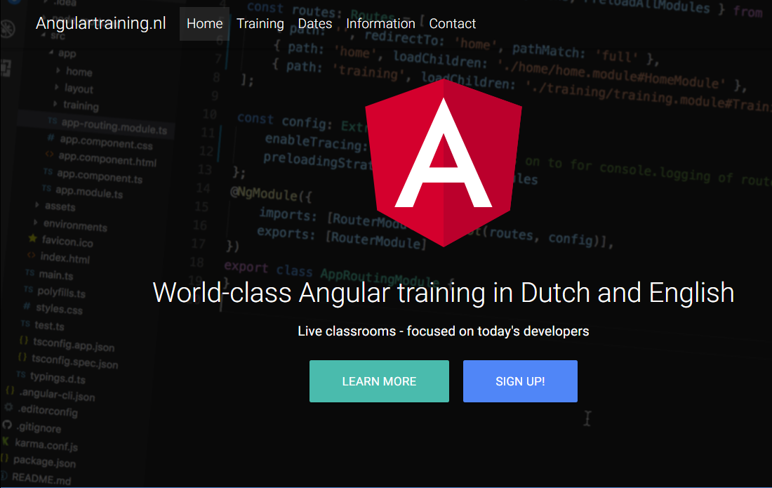 Angulartraining.nl - World class Angular training in Dutch and English