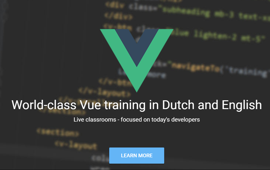 Vuetraining.nl - World class Vue training in Dutch and English