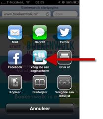 Webapp toevoegen aan startscherm