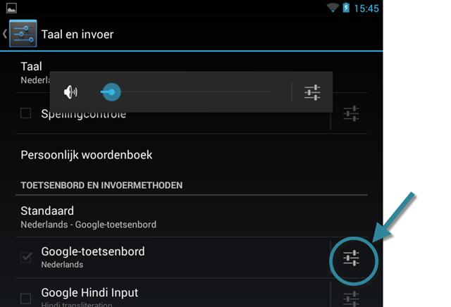 Android: Instellingen, Toetsenbord