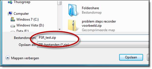 PSR-opnames worden bewaard in een zip-bestand