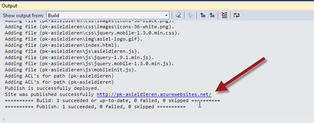 Publiceren naar Azure vanuit Visual Studio