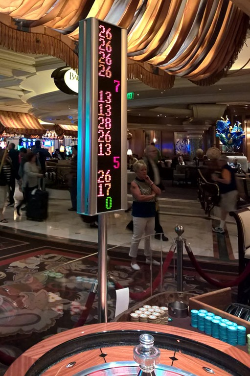 26 bij roulette in Bellagio, Las Vegas, NV