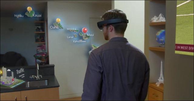 HoloLens projecteert hologrammen in de wereld waarin je je op dat moment bevindt