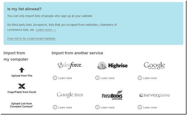Contacten importeren in MailChimp
