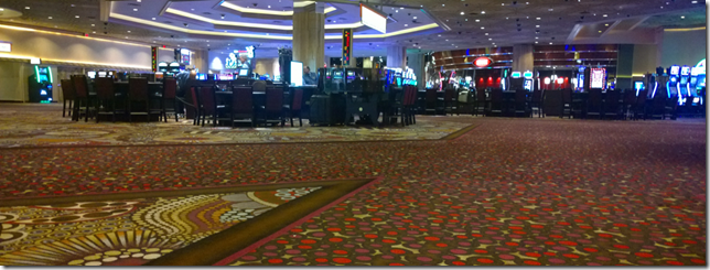 Empty Casino floor at MGM Grand