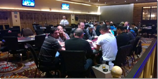 Poker tournamet at MGM Grand