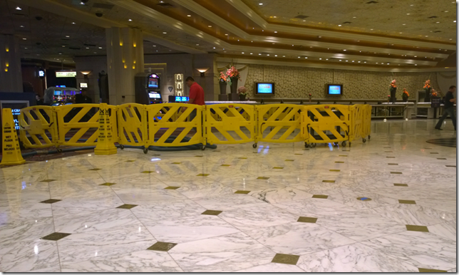Cleaning up MGM Grand Lobby
