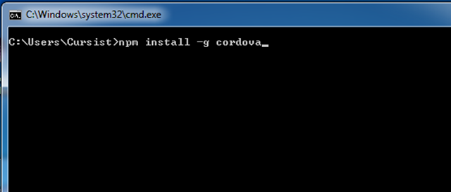 Cordova installeren via NPM