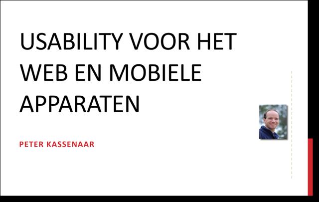 Eerste dia presentatie usability mobiele apparaten