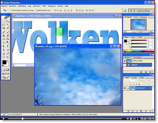 Tekstmaskers maken in Photoshop