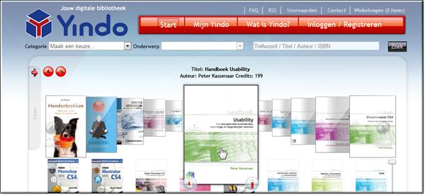 Yindo homepage